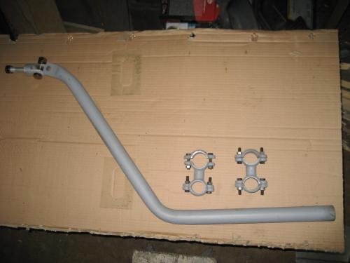 Indian front pipe with clamps